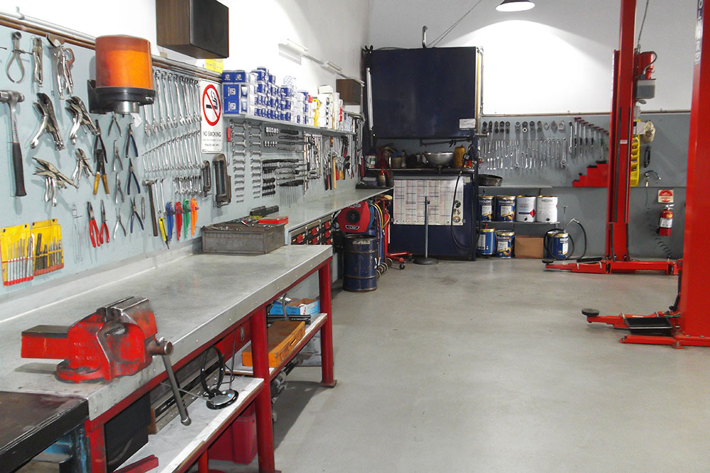 Parsons Motors workshop image